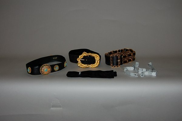 3: A group of Chanel accessories, including a black sue