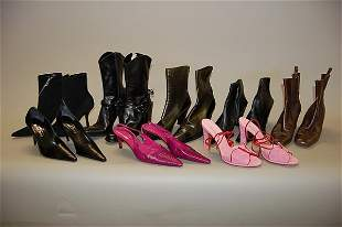 A group of Michél Perry footwear, comprising: five p