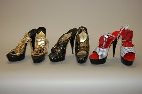 6: Three pairs of Dolce and Gabbana elevated platforms