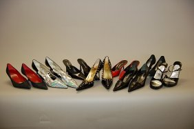 9: A large group of Dolce and Gabbana footwear, mainly