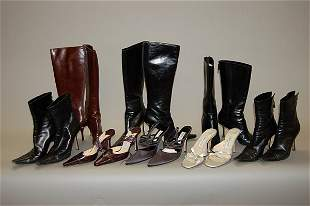 A group of Jimmy Choo footwear, comprising: five pa