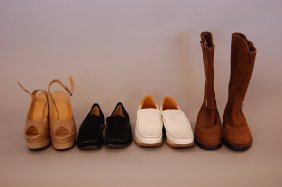 13: A group of Hermes footwear, comprising: a fine pair