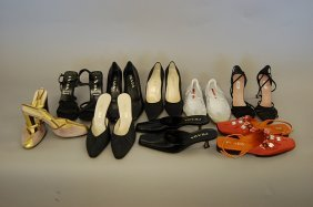 14: Nine pairs of Prada shoes, including: a pair of 193