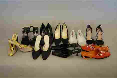 Nine pairs of Prada shoes, including: a pair of 193