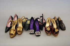 17: A group of Louis Vuitton footwear, including: a fab