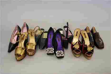 A group of Louis Vuitton footwear, including: a fab