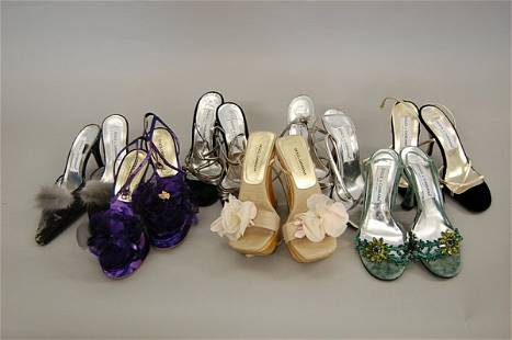 A group of Dolce and Gabbana sandals/mules, includi