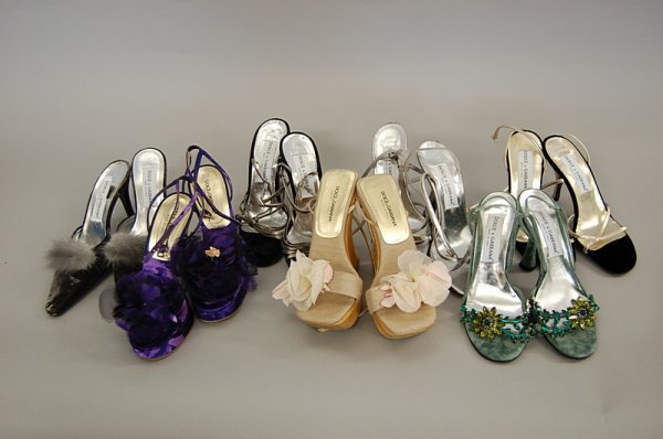 21: A group of Dolce and Gabbana sandals/mules, includi