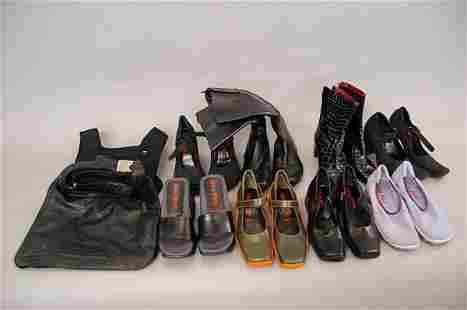 A large group of Miu Miu/Prada footwear, mainly for