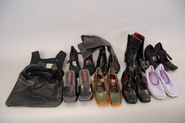 22: A large group of Miu Miu/Prada footwear, mainly for