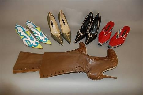 A group of Alexander McQueen footwear comprising: t