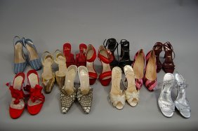 39: A group of Christian Louboutin shoes and sandals, i