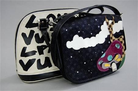 61: A Stephen Sprouse for Louis Vuitton vinyl handbag,