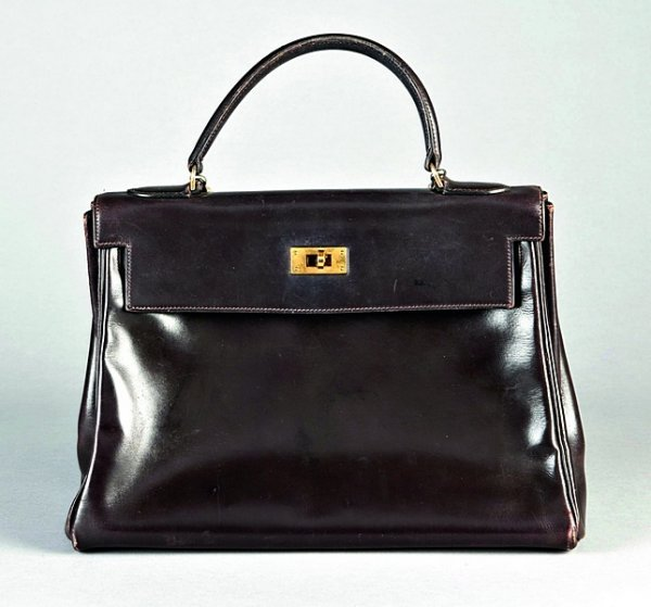 8: An Hermès brown leather Kelly bag, late 1970s, stamp