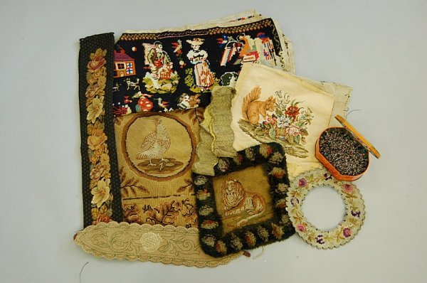 1008: A miscellaneous group of embroideries and trimmin