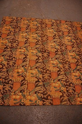 1020: A printed cotton furnishing chintz panel, English