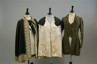Late Victorian and Edwardian clothing, including a g
