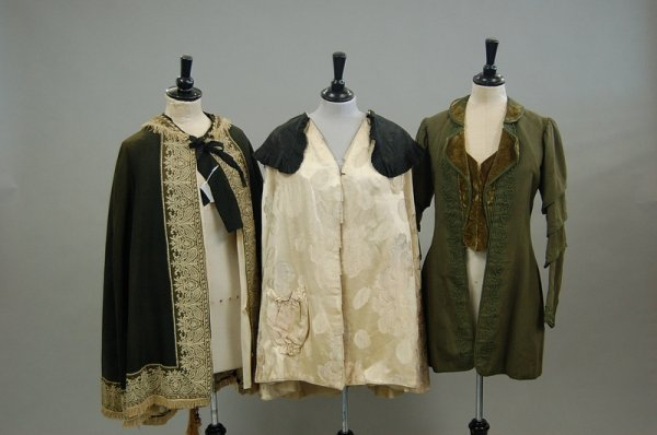 3: Late Victorian and Edwardian clothing, including a g