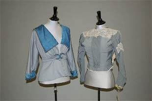A group of clothing 1890-1915, comprising pink chees
