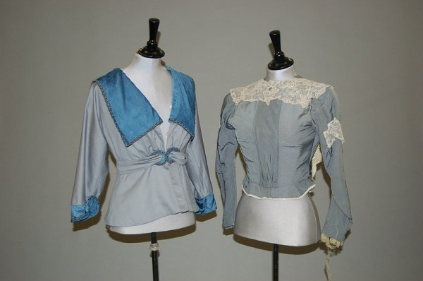 5: A group of clothing 1890-1915, comprising pink chees