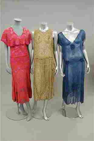 A group of poor condition 20s-30s beaded garments,