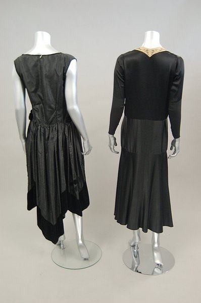 18: Five 1920s-early 30s dinner-cocktail dresses, inclu