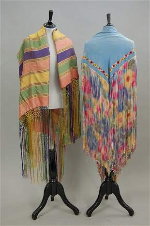 A large group of shawls and stoles, 1900-1930s, app