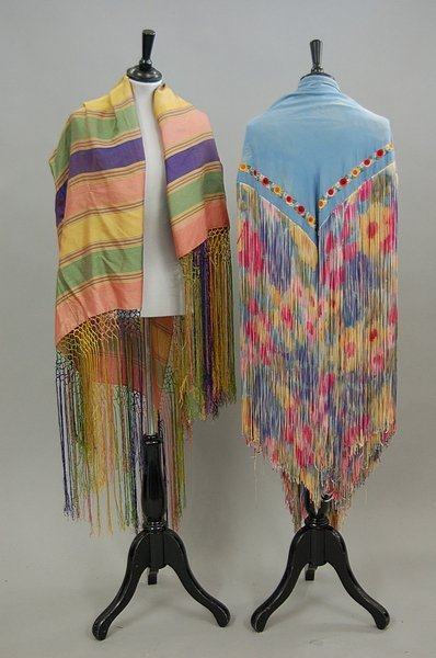 20: A large group of shawls and stoles, 1900-1930s, app