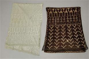 Two Azute stoles, Egyptian, 1920s, one of pale blue