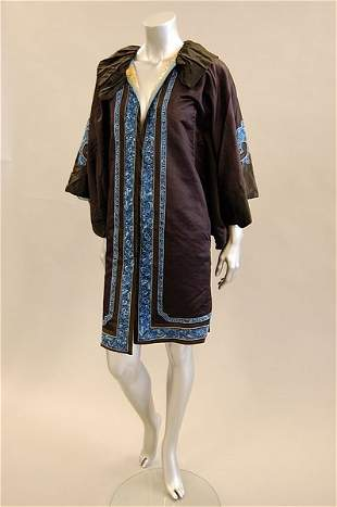 A Chinese robe altered into a jacket for a Europe