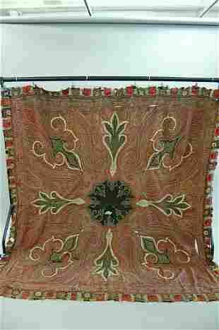 A woven kashmir shawl, circa 1850, with black cen