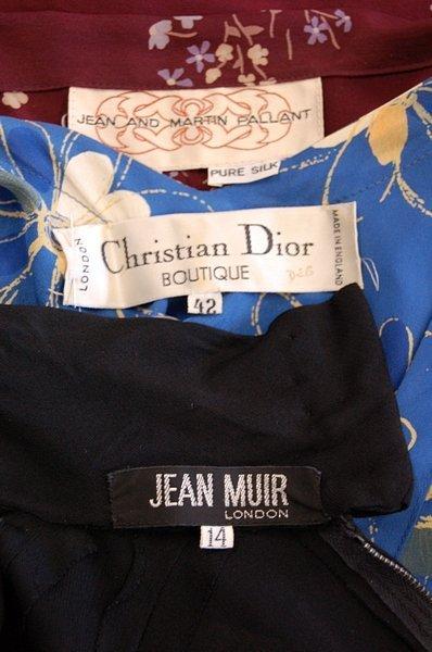 1043: A Jean Muir black jersey cocktail dress, late 197 - 5