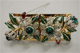 A pair of Mazer Brothers enamelled and jewelled c