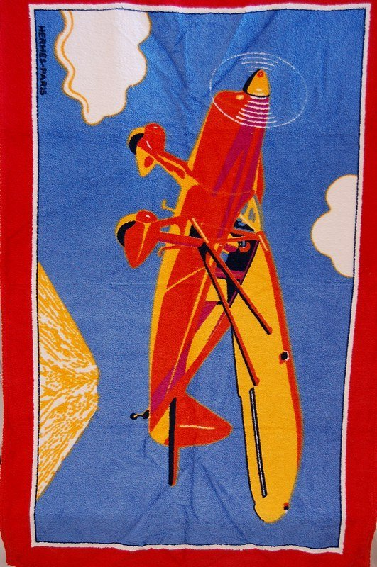 1106: Four Hermes beach towels, each with a different c - 2