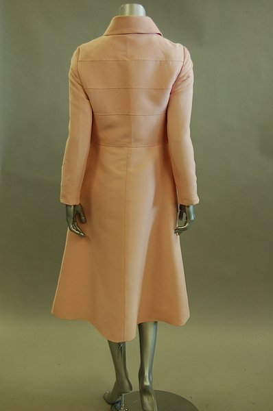 1118: A Louis Feraud pink dress and matching coat, circ - 2