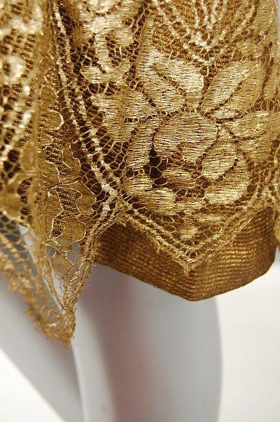 1222: A gold lace flapper dress, late 1920s, knee-lengt - 4