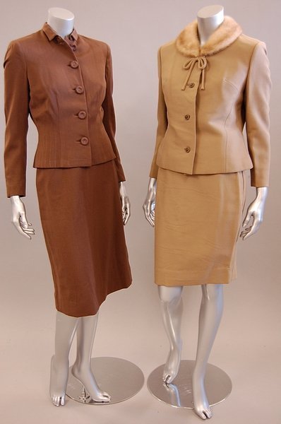 1337: Four ladies suits, late 1940s-early 1960s, compri