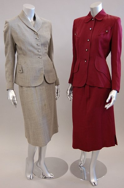 1337: Four ladies suits, late 1940s-early 1960s, compri - 3