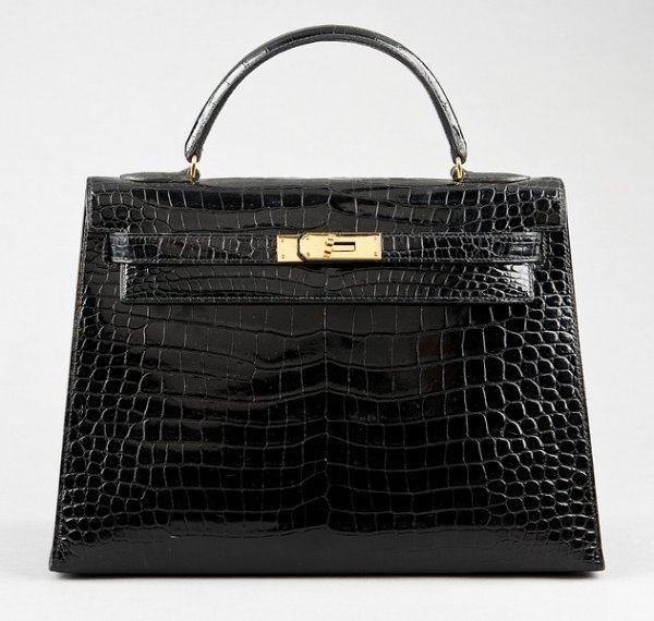 2: A fine Hermès black crocodile Kelly bag, pre 1975, C