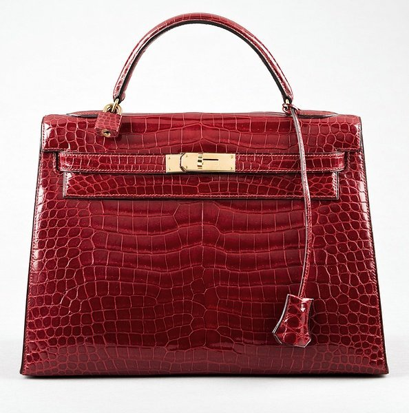 3: An Hermès wine-red crocodile Kelly bag, 1990s, Croco