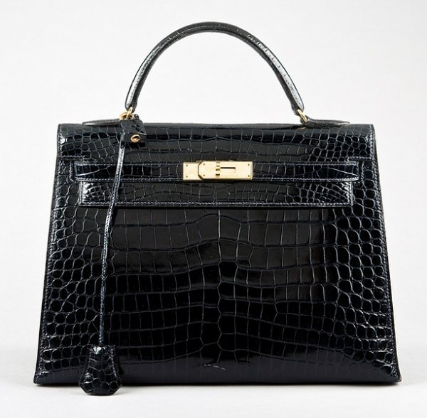 4: An Hermès midnight blue crocodile Kelly bag, 1980s,