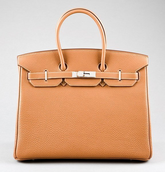 9: An Hermès tan togo leather Birkin, 2007, with silver