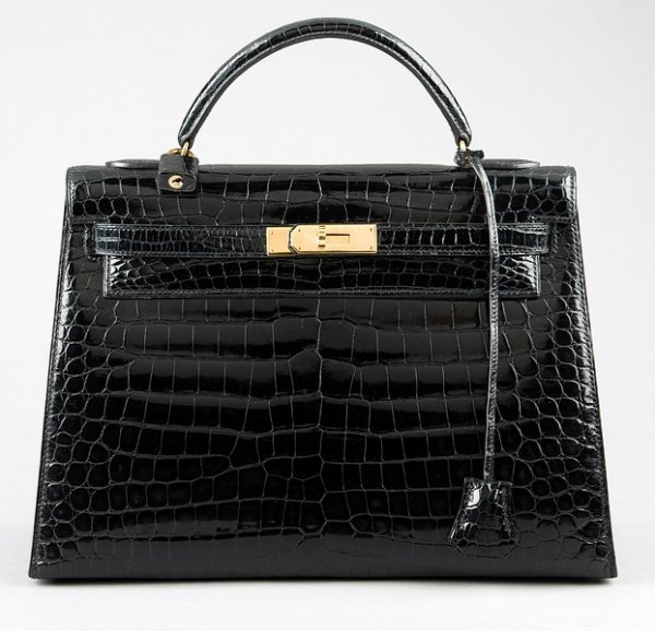 13: An Hermès black crocodile Kelly bag, 1980s, Crocody