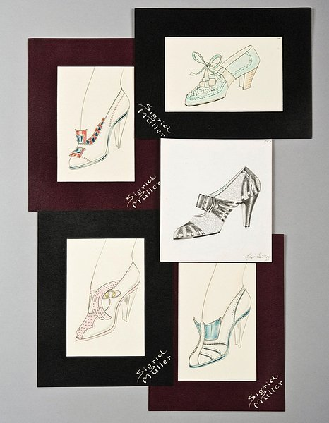 19: An archive of shoe designs by Sigrid Muller (Part I