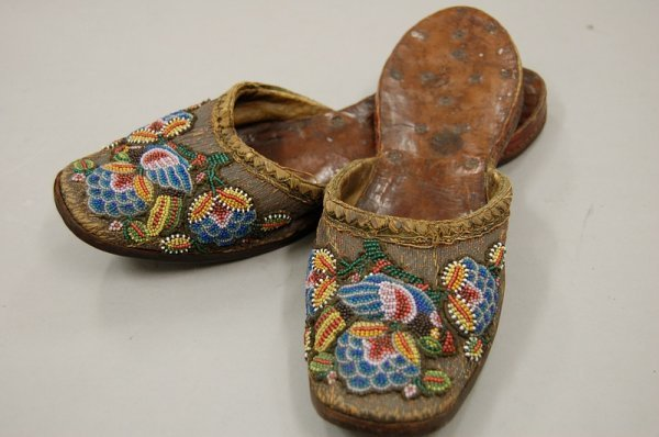 20: A pair of beadworked bridal mules, Burmese or Malay