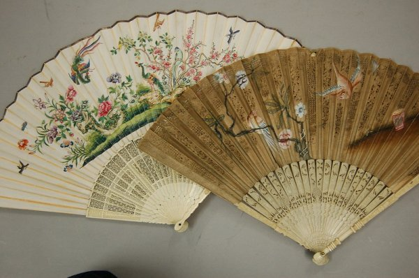 24: A good Cantonese export fan, circa 1770-80, the dou