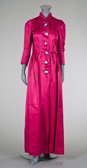 73 A Rare Schiaparelli Couture Shocking Pink Coat Dres