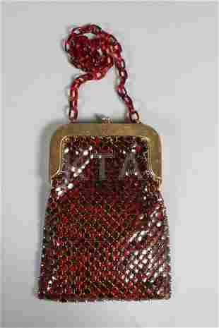 Three Whiting and Davis mesh purses, 1930s-60s, one in