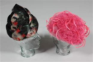 Four Christian Dior hats, early 1960s-1970s, including