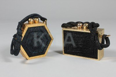 Two Fre-Mor beaded evening bags, 1940s, one hexagonal